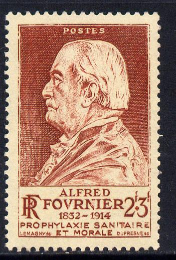 France 19446 Alfred Fournier (dermatologist) 2f+3f brown-lake unmounted mint SG 960