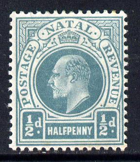 Natal 1902-03 KE7 Crown CA Postage-Revenue 1/2d blue-green mounted mint SG 127