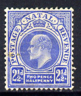 Natal 1902-03 KE7 Crown CA Postage-Revenue 2.5d bright blue mounted mint SG 131