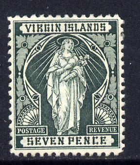 British Virgin Islands 1899 Virgin Crown CA 7d deep green mounted mint SG 48