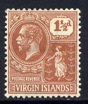British Virgin Islands 1922-28 KG5 Script CA 1.5d Venetian-red mounted mint SG 91