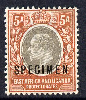 Kenya, Uganda & Tanganyika 1903-04 KE7 Crown CA 5a overprinted SPECIMEN fine with gum only about 730 produced SG 7s