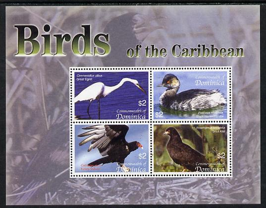 Dominica 2005 Birds of the Caribbean perf sheetlet containing 4 values unmounted mint SG MS 3421