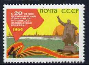Russia 1964 20th Anniversary of Liberation of Leningrad unmounted mint, SG 2978, Mi 2905*