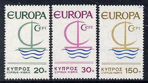 Cyprus 1966 Europa set of 3 unmounted mint SG 280-82