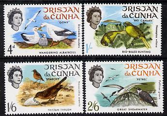 Tristan da Cunha 1968 Birds set of 4 unmounted mint SG 113-6