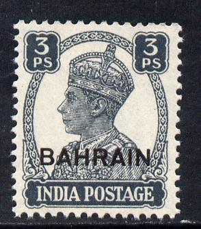 Bahrain 1942-45 KG6 3p slate unmounted mint SG 38