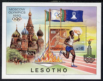 Lesotho 1980 Moscow Olympic Games perf m/sheet unmounted mintSG MS 397
