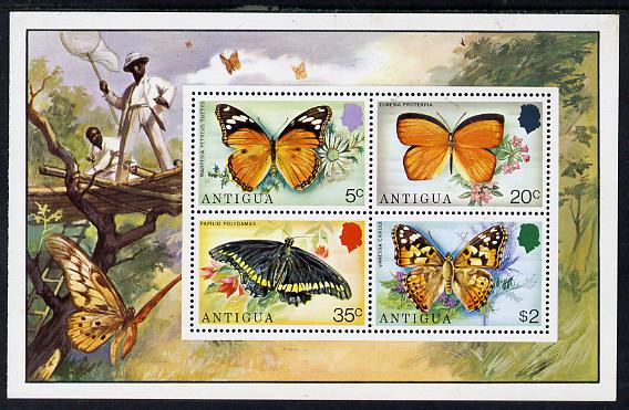 Antigua 1975 Butterflies perf m/sheet containing 4 values unmounted mint, SG MS 456