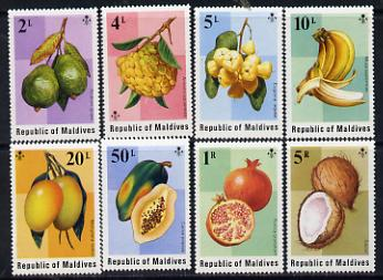 Maldive Islands 1975 Fruits perf set of 8 unmounted mint SG 559-66