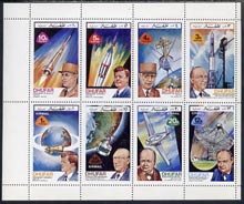 Dhufar 1972 Heads of State & Space Achievements complete perf  set of 8 unmounted mint