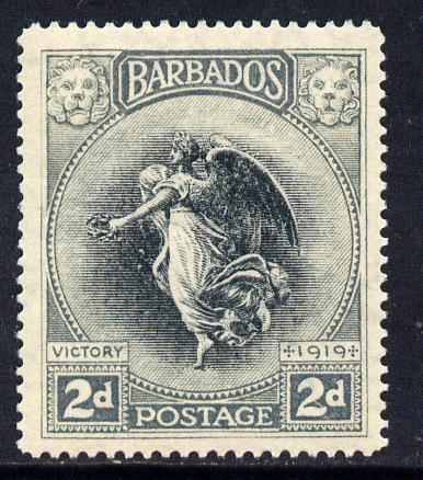 Barbados 1920-21 Victory MCA 2d black & grey mounted mint SG 204