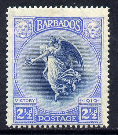 Barbados 1920-21 Victory MCA 2.5d indigo & ultramarine mounted mint SG 205