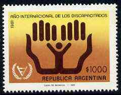 Argentine Republic 1981 International Year of the Disabled unmounted mint, SG 1717*