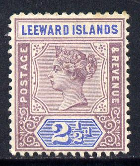 Leeward Islands 1890 QV Crown CA 2.5d dull mauve & blue mounted mint SG 3