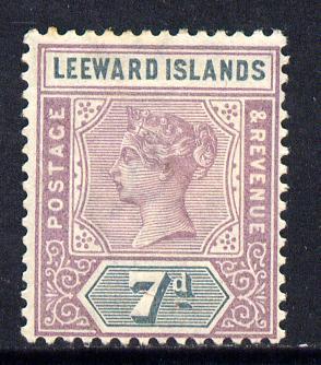 Leeward Islands 1890 QV Crown CA 7d dull mauve & slate mounted mint SG 6
