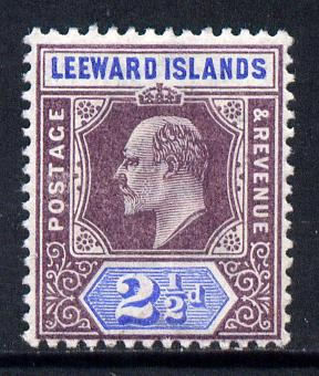 Leeward Islands 1902 KE7 Crown CA 2.5d dull purple & ultramarine mounted mint SG 23