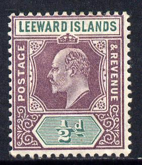 Leeward Islands 1905-08 KE7 MCA 1/2d dull purple & green mounted mint SG 29