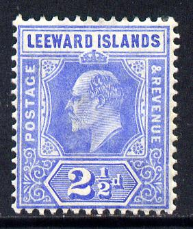 Leeward Islands 1907-11 KE7 MCA 2.5d bright blue mounted mint SG 40