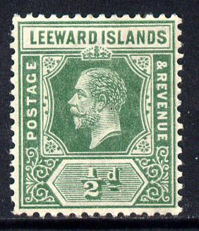 Leeward Islands 1912-22 KG5 MCA 1/2d deep green Die I mounted mint SG 47a