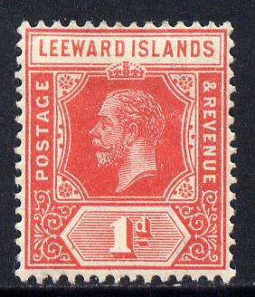 Leeward Islands 1912-22 KG5 MCA 1d red Die I mounted mint SG 48