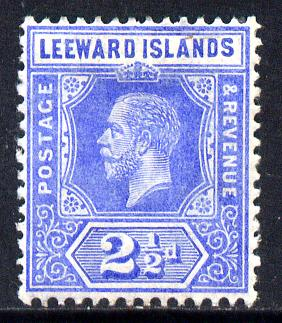 Leeward Islands 1912-22 KG5 MCA 2.5d bright blue Die I mounted mint SG 50
