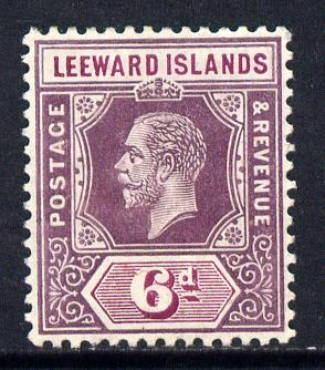 Leeward Islands 1912-22 KG5 MCA 6d dull & bright purple Die I mounted mint SG 53