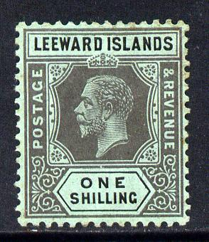 Leeward Islands 1912-22 KG5 MCA 1s black on green Die I mounted mint SG 54