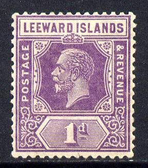 Leeward Islands 1921-32 KG5 Script CA 1d bright violet Die II mounted mint SG 61