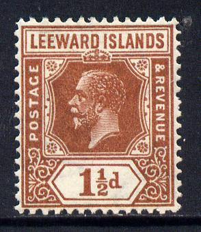 Leeward Islands 1921-32 KG5 Script CA 1.5d red-brown Die II mounted mint SG 64
