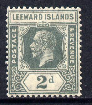 Leeward Islands 1921-32 KG5 Script CA 2d slate-grey Die II mounted mint SG 65