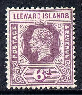 Leeward Islands 1921-32 KG5 Script CA 6d dull & bright purple Die II mounted mint SG 72