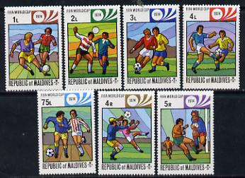 Maldive Islands 1974 World Cup Football set of 7 unmounted mint SG 514-20