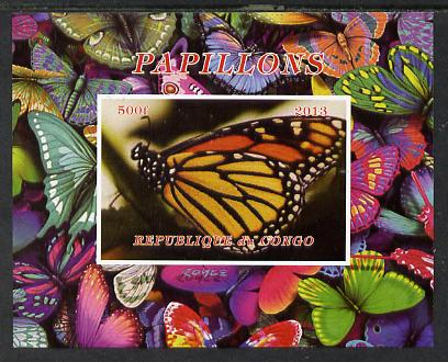 Congo 2013 Butterflies #1 imperf deluxe sheet unmounted mint. Note this item is privately produced and is offered purely on its thematic appeal