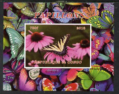 Congo 2013 Butterflies #3 imperf deluxe sheet unmounted mint. Note this item is privately produced and is offered purely on its thematic appeal