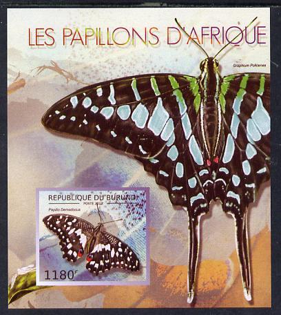 Burundi 2013 Butterflies #3 imperf deluxe sheet unmounted mint