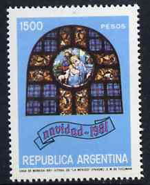 Argentine Republic 1981 Christmas (Stained Glass Window) unmounted mint SG 1728*