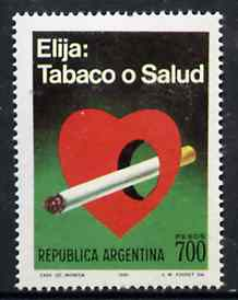 Argentine Republic 1980 Anti Smoking  Campaign unmounted mint, SG 1689*