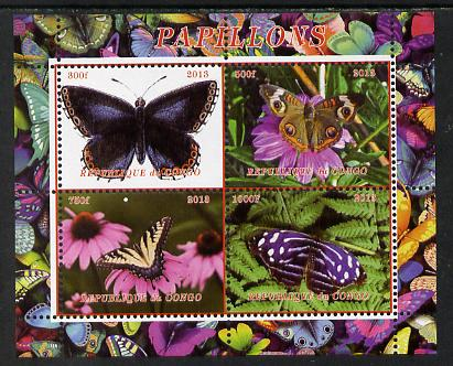 Congo 2013 Butterflies #2 perf sheetlet containing 4 vals unmounted mint. Note this item is privately produced and is offered purely on its thematic appeal