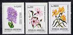 Argentine Republic 1983 Flowers set of 3 (40c, 1p80 & 10p) unmounted mint, Mi 1662-64*