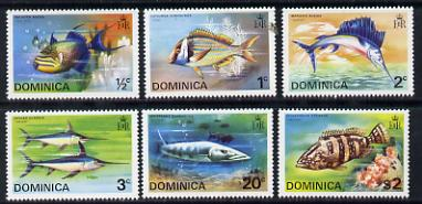 Dominica 1975 Fish perf set of 6 unmounted mint, SG 452-57
