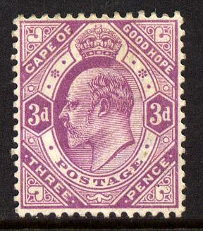 Cape Of Good Hope 1902-04 KE7 3d magenta mounted mint SG 74