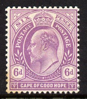 Cape Of Good Hope 1902-04 KE7 6d bright mauve mounted mint SG 76