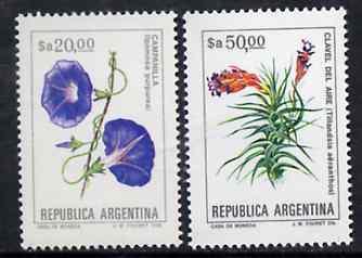 Argentine Republic 1983 Flowers set of 2 (20p & 50p) unmounted mint, Mi 1704-05*