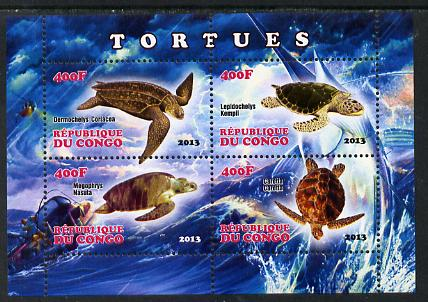 Congo 2013 Turtles perf sheetlet containing four values unmounted mint