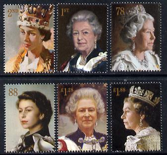 Great Britain 2013 60th Anniversary of Coronation - Royal Portraits perf set of 6 unmounted mint