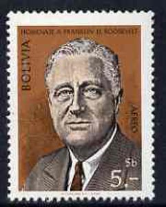 Bolivia 1969 Franklin D Roosevelt Commemoration unmounted mint, SG 870*
