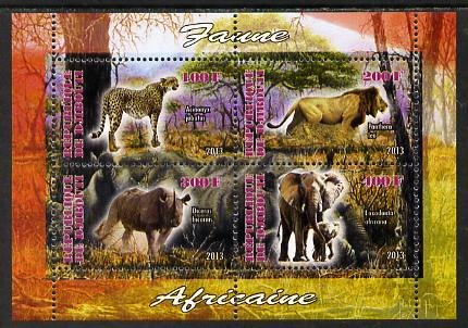 Djibouti 2013 Animals of Africa #1 perf sheetlet containing 4 values unmounted mint