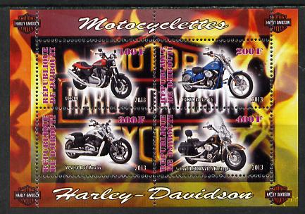 Djibouti 2013 Harley Davidson Motorcycles perf sheetlet containing 4 values unmounted mint