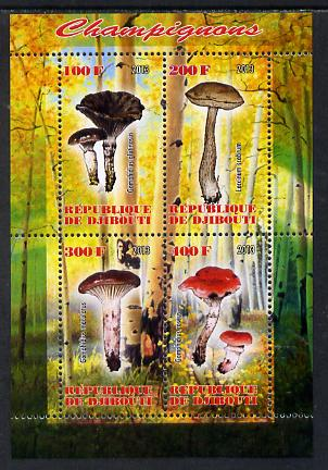 Djibouti 2013 Fungi #1 perf sheetlet containing 4 values unmounted mint